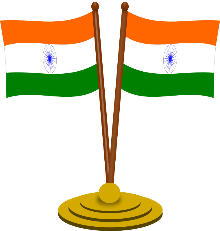 Indian flag clipart pic clip royalty free download Free Clipart: Indian flag 2 | gsagri04 clip royalty free download