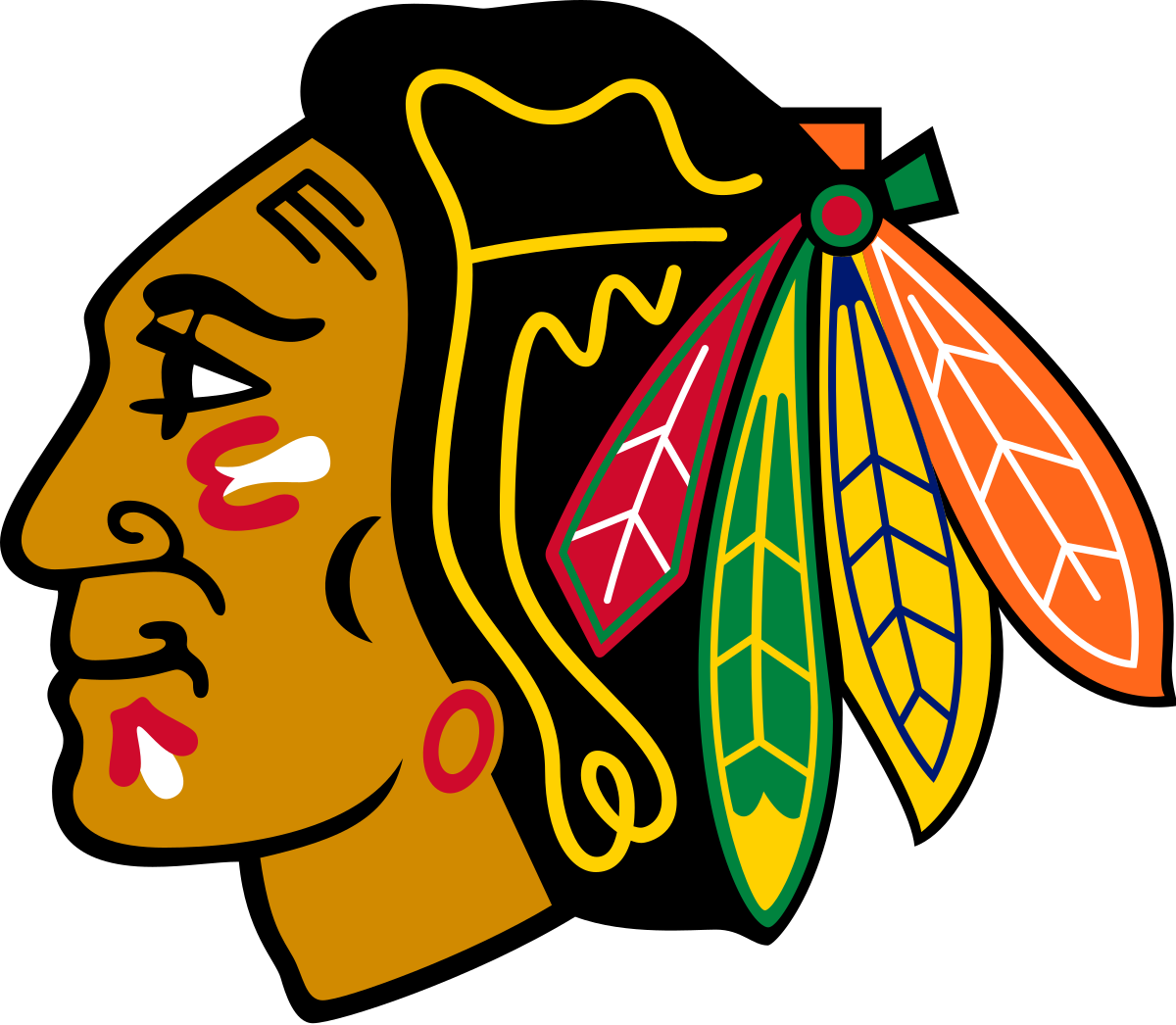Indian football mascot clipart png stock Chicago Blackhawks - Wikipedia png stock