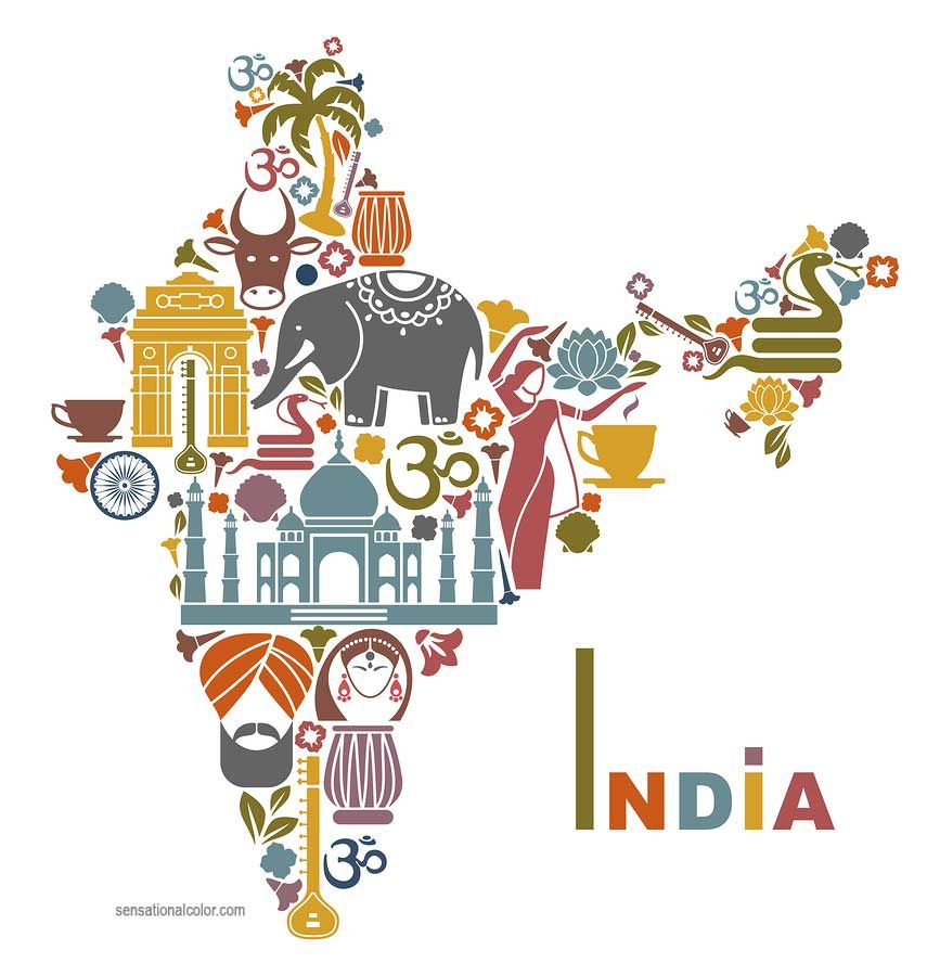 Indian golden age clipart picture black and white download Symbolic Colors of India … | Places to Visit | India… picture black and white download