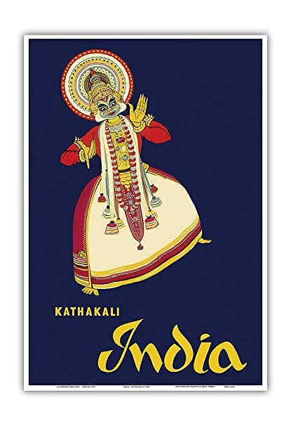 Indian golden age clipart royalty free library Amazon.com: Pacifica Island Art India - Kathakali Indian Dancer ... royalty free library