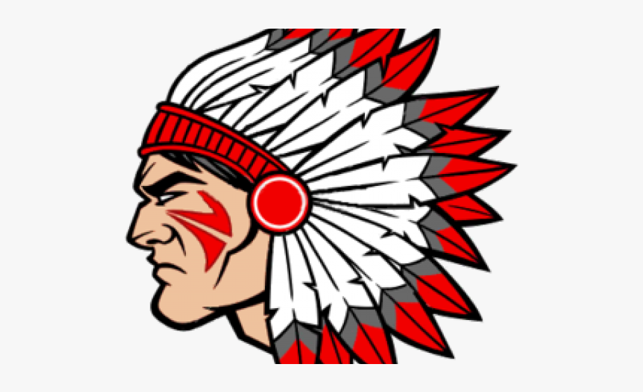 Indian head clipart jpg stock Indians Clipart Indian Head - Brother Rice Warrior Head #1032962 ... jpg stock