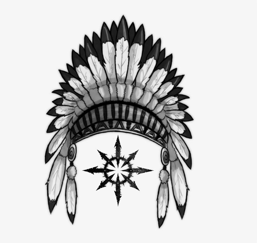 Indian headband clipart jpg freeuse stock Feather Clipart Indian Headband - Native American Headdress Png ... jpg freeuse stock