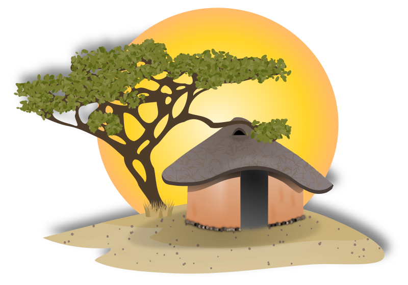 Indian hut clipart png black and white Hut clipart villager indian, Hut villager indian Transparent FREE ... png black and white