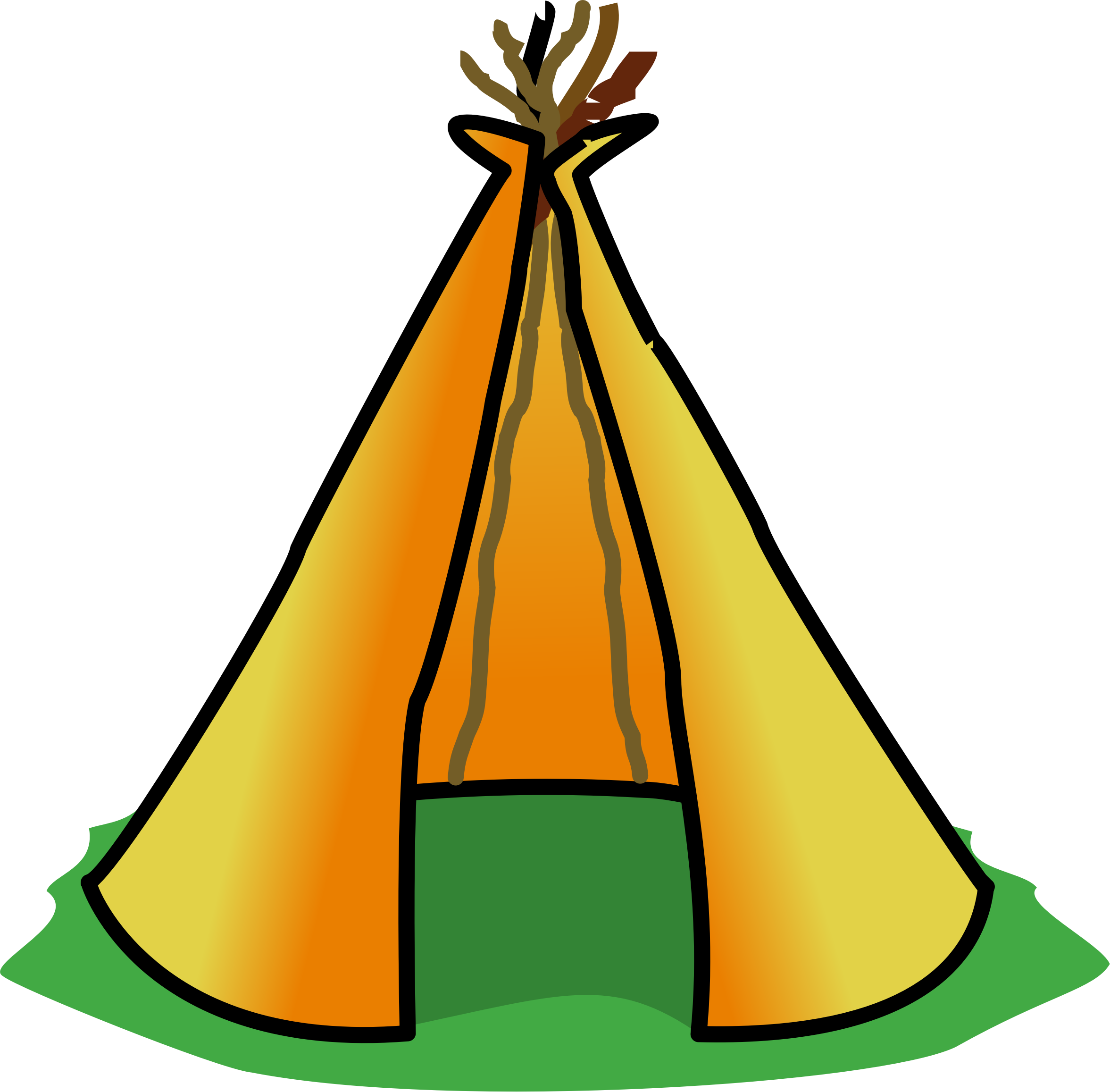 Indian hut clipart graphic black and white Teepee Clipart | Free download best Teepee Clipart on ClipArtMag.com graphic black and white
