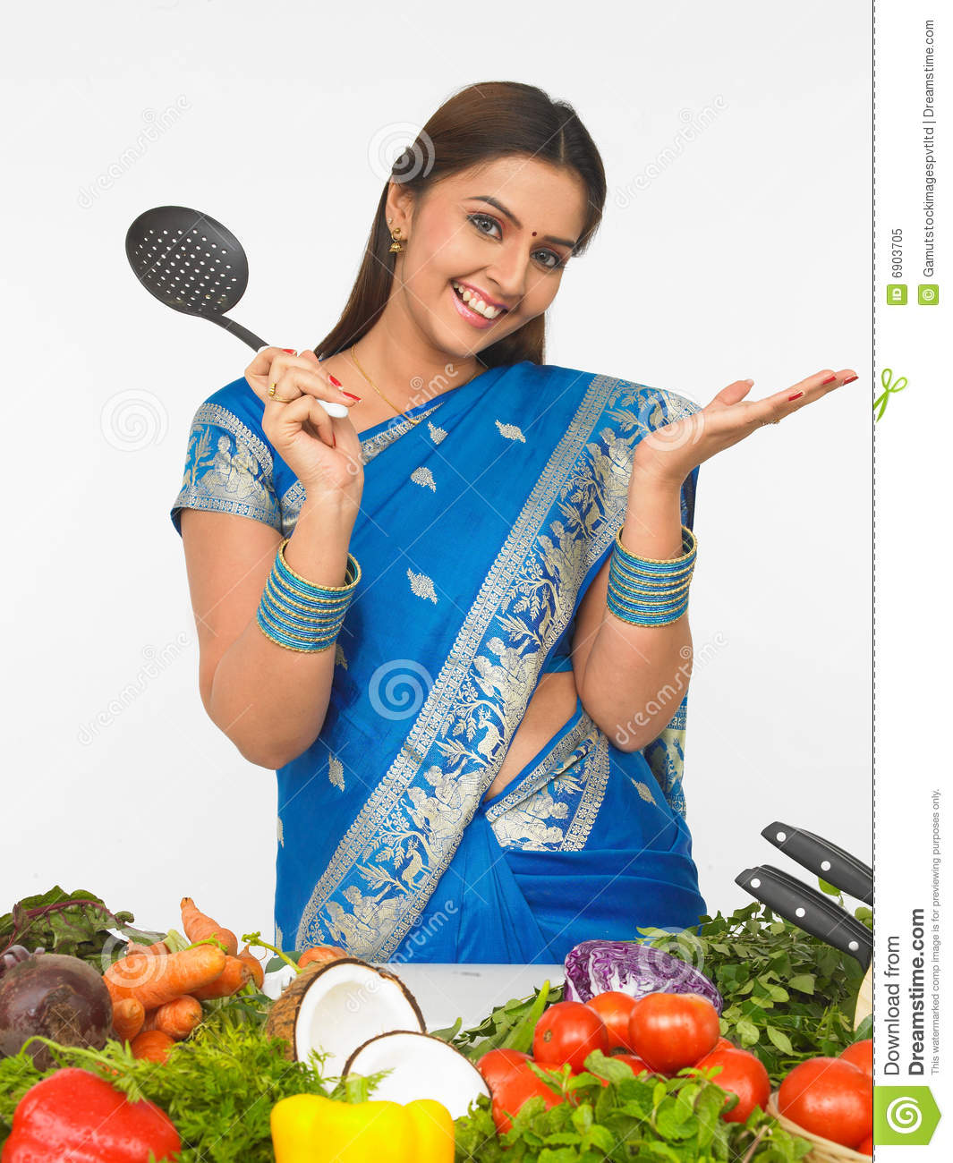 Indian lady chef clipart clip art download Asian Woman In The Kitchen Royalty Free Stock Photo - Image: 6903705 clip art download