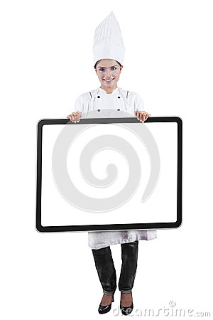 Indian lady chef clipart clip art royalty free library Indian Female Chef Showing Recipe Board Stock Illustration - Image ... clip art royalty free library