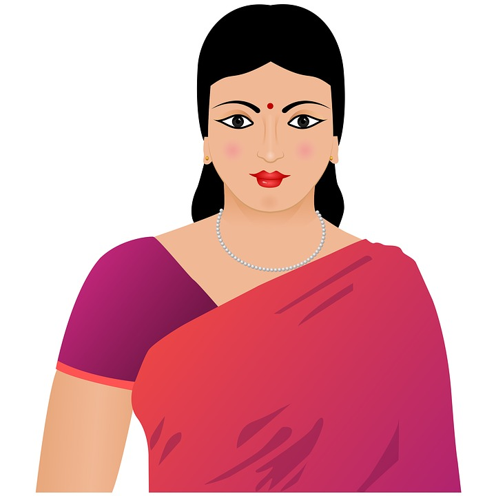 Indian lady clipart banner black and white library Indian lady clipart 12 » Clipart Station banner black and white library
