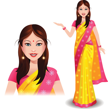 Indian lady clipart jpg stock Free Indian Saree Cliparts, Download Free Clip Art, Free Clip Art on ... jpg stock