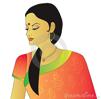 Indian lady clipart clipart black and white library Traditional indian lady clipart 2 » Clipart Station clipart black and white library