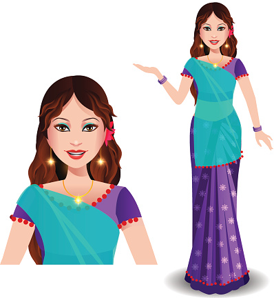 Indian lady clipart clip art freeuse library Traditional indian lady clipart 9 » Clipart Station clip art freeuse library