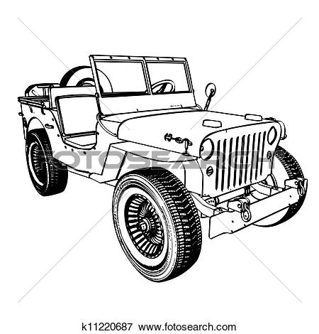 Indian police jeep clipart picture library stock Clipart of Cartoon jeep k13684154 - Search Clip Art, Illustration ... picture library stock