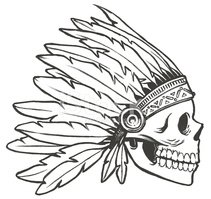 Indian skull clipart png royalty free library Indian Chief Skull and Headdress stock vectors - Clipart.me png royalty free library