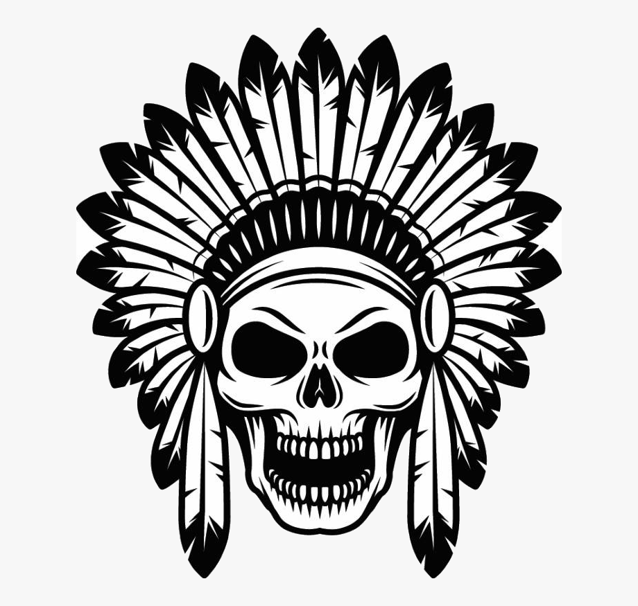 Indian skull clipart clipart black and white download Graphic Freeuse Stock Indian Skull Clipart - Indian Headdress Skull ... clipart black and white download