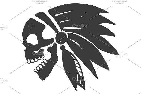 Indian skull clipart svg transparent library Tattoo Indian Skull svg transparent library