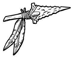Scared native american indian with spear clipart vector library library indian spear - Google Search | tattoos | Indian tribal tattoos ... vector library library