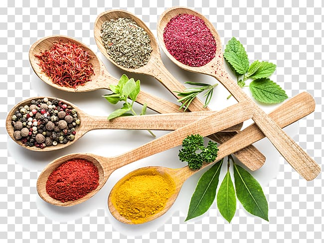 Indian spices clipart clip library stock Wooden spoons with assorted herbs, Indian cuisine Take-out Spice ... clip library stock