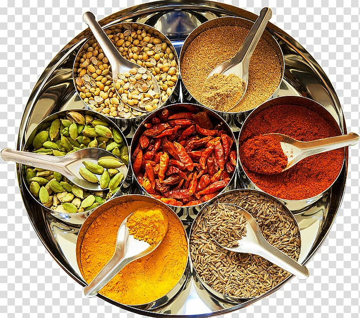 Indian spices clipart svg royalty free download Seasoning powders and seeds on containers, Indian cuisine Spice mix ... svg royalty free download