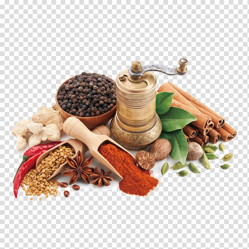 Indian spices clipart jpg royalty free download Assorted spices with brass grinder on white surface, Chutney Indian ... jpg royalty free download