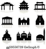 Indian temple clipart picture freeuse Hindu Temple Clip Art - Royalty Free - GoGraph picture freeuse