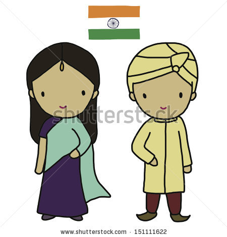 Indian traditional clipart clip royalty free stock Indian Traditional Dress Stock Vector 151111622 - Shutterstock clip royalty free stock