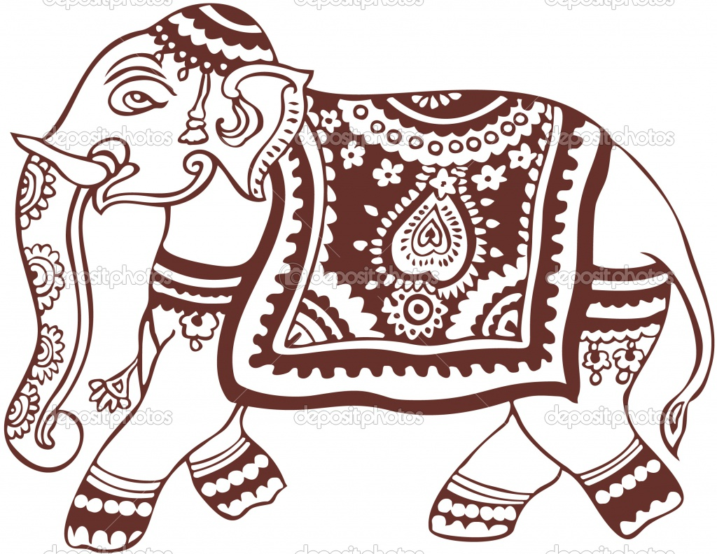 Indian traditional clipart clipart freeuse library Indian Elephant Clipart - Clipart Kid clipart freeuse library