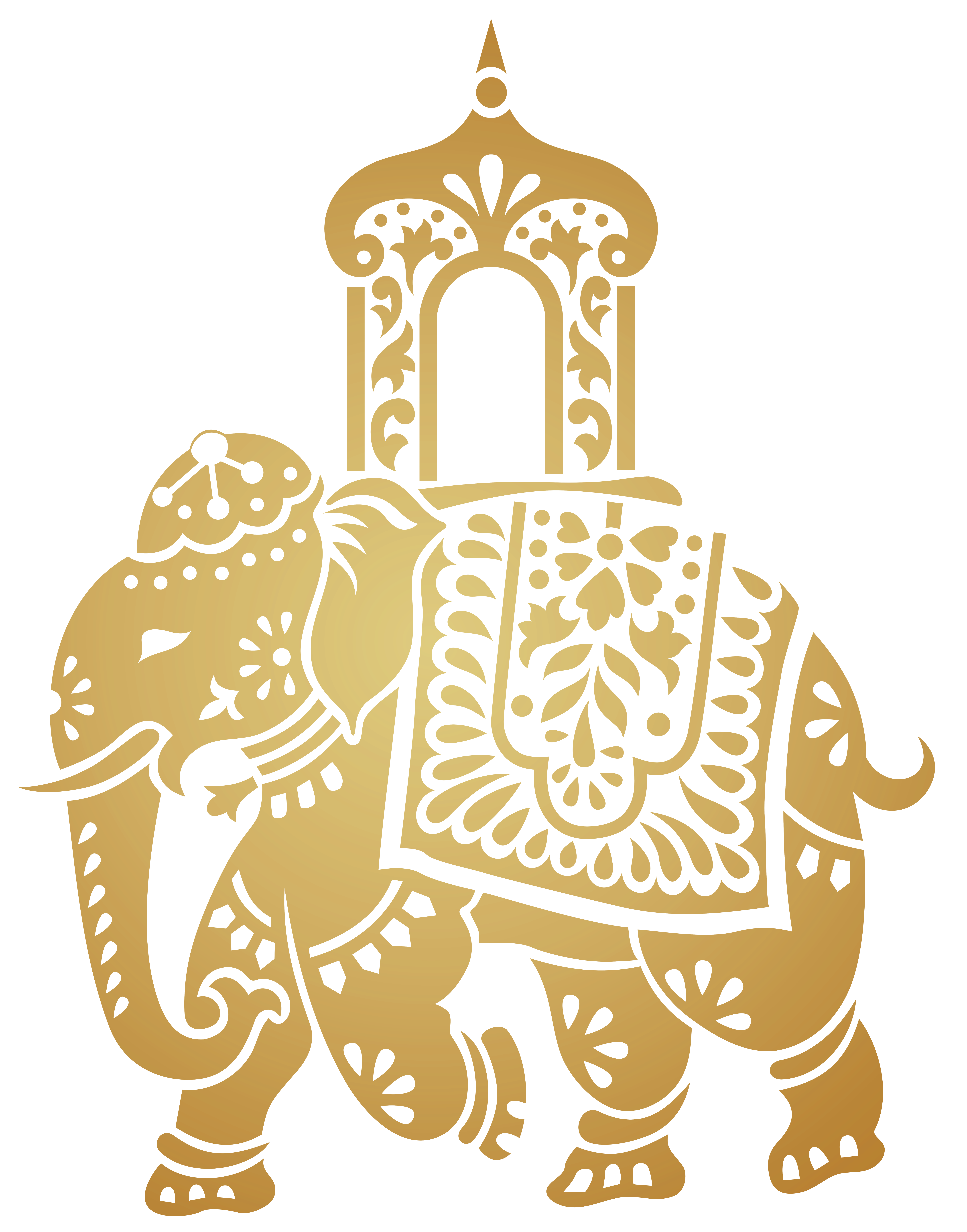 Asian flower clipart clipart freeuse Decorative Indian Elephant Transparent Clip Art Image clipart freeuse