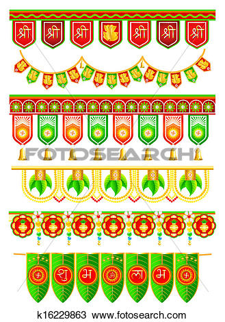 Indian traditional clipart image stock Clipart of Doorway Hanging for Indian Traditional Decoration ... image stock