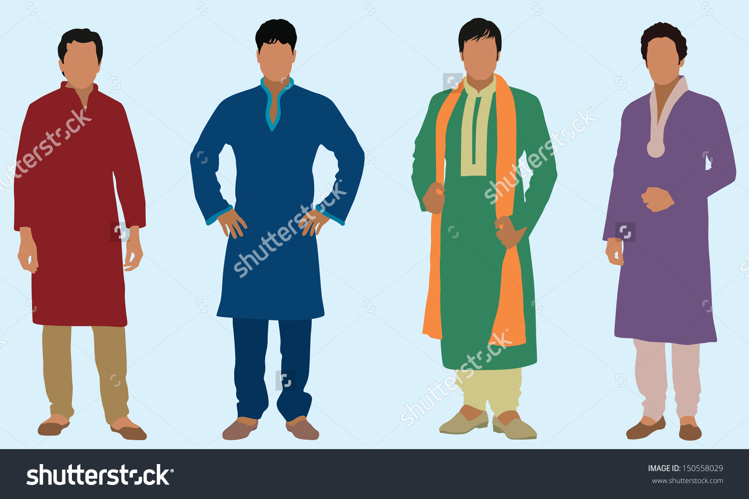 Indian traditional dress clipart png royalty free download East Indian Men Stock Vector 150558029 - Shutterstock png royalty free download