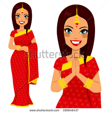 Indian traditional dress clipart clip art freeuse Indian Traditional Dress Stock Images, Royalty-Free Images ... clip art freeuse