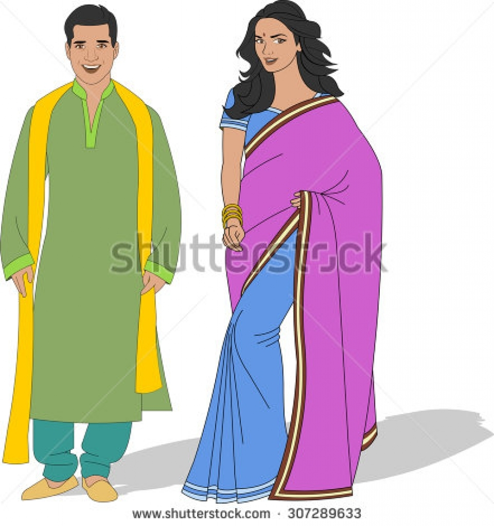 Indian traditional dress clipart banner freeuse stock Indian traditional dress clipart - ClipartFest banner freeuse stock