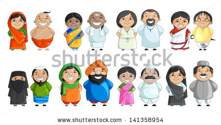 Indian traditional dress clipart image freeuse library Traditional dresses of indian states clipart - ClipartFox image freeuse library