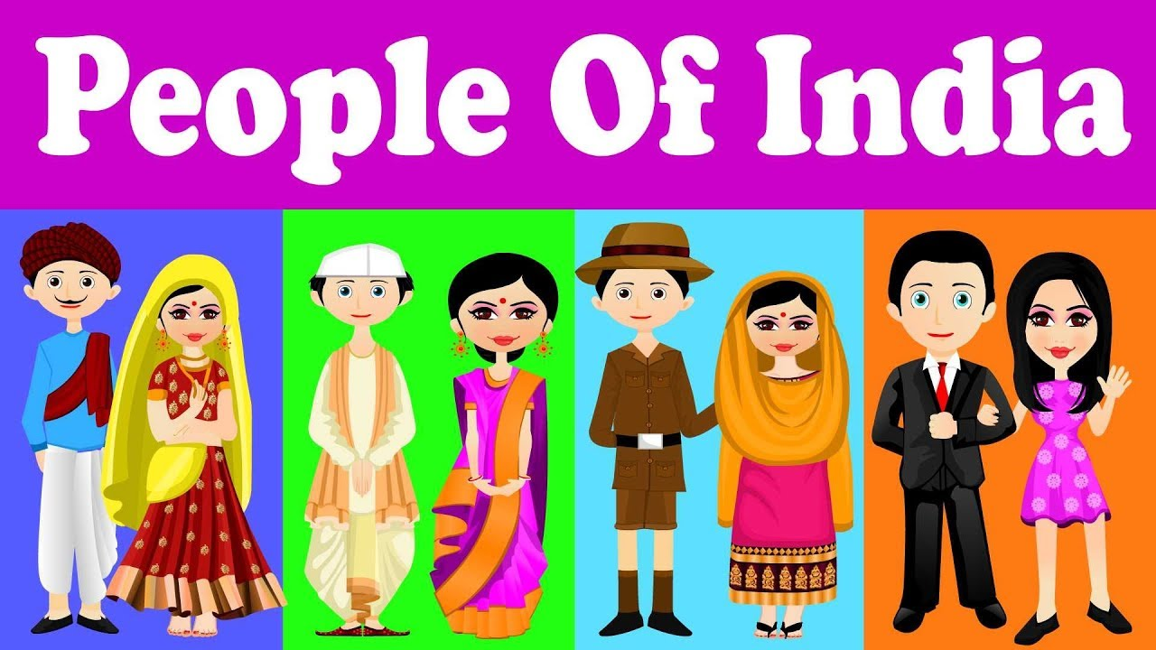Indian traditional dresses of different states clipart svg transparent library Indian People | Traditional dresses of Indian States | Kid2teentv svg transparent library