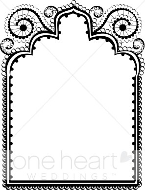 Wedding card frame clipart picture freeuse download Indian Wedding Clipart | Free download best Indian Wedding Clipart ... picture freeuse download