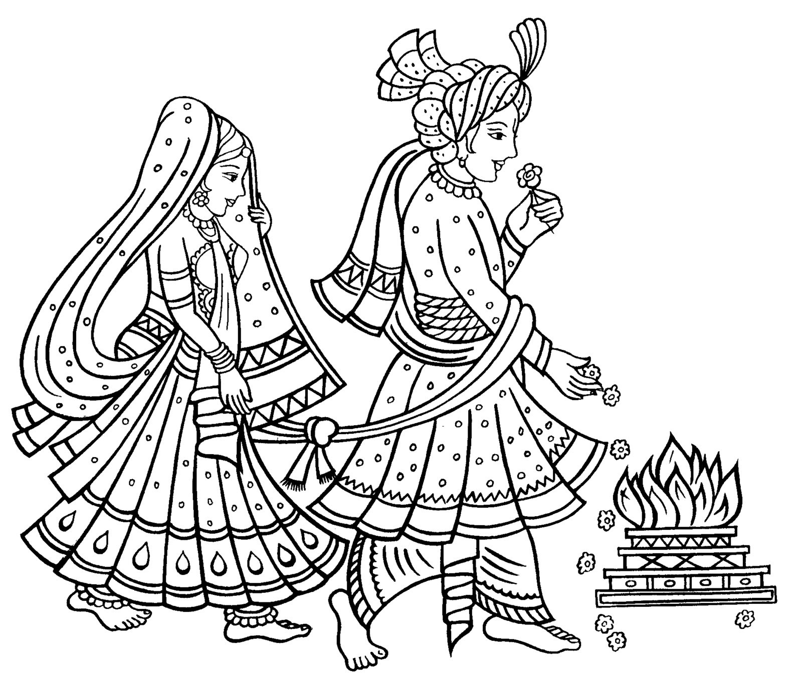 Indian wedding clipart images black and white clipart library library Hindu wedding clipart clipartxtras 0 indian marriage jpeg - Clipartix clipart library library