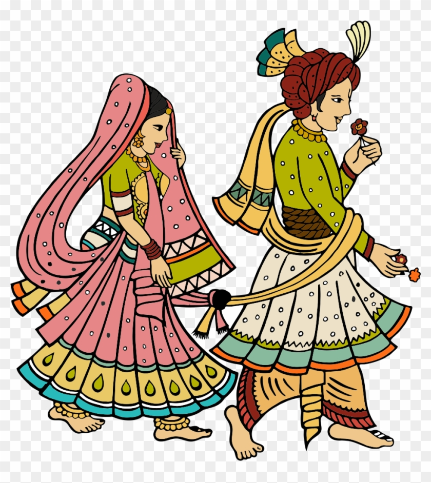 Indian wedding pictures clipart banner transparent library Wedding - Indian Wedding Couple Clipart Png, Transparent Png ... banner transparent library