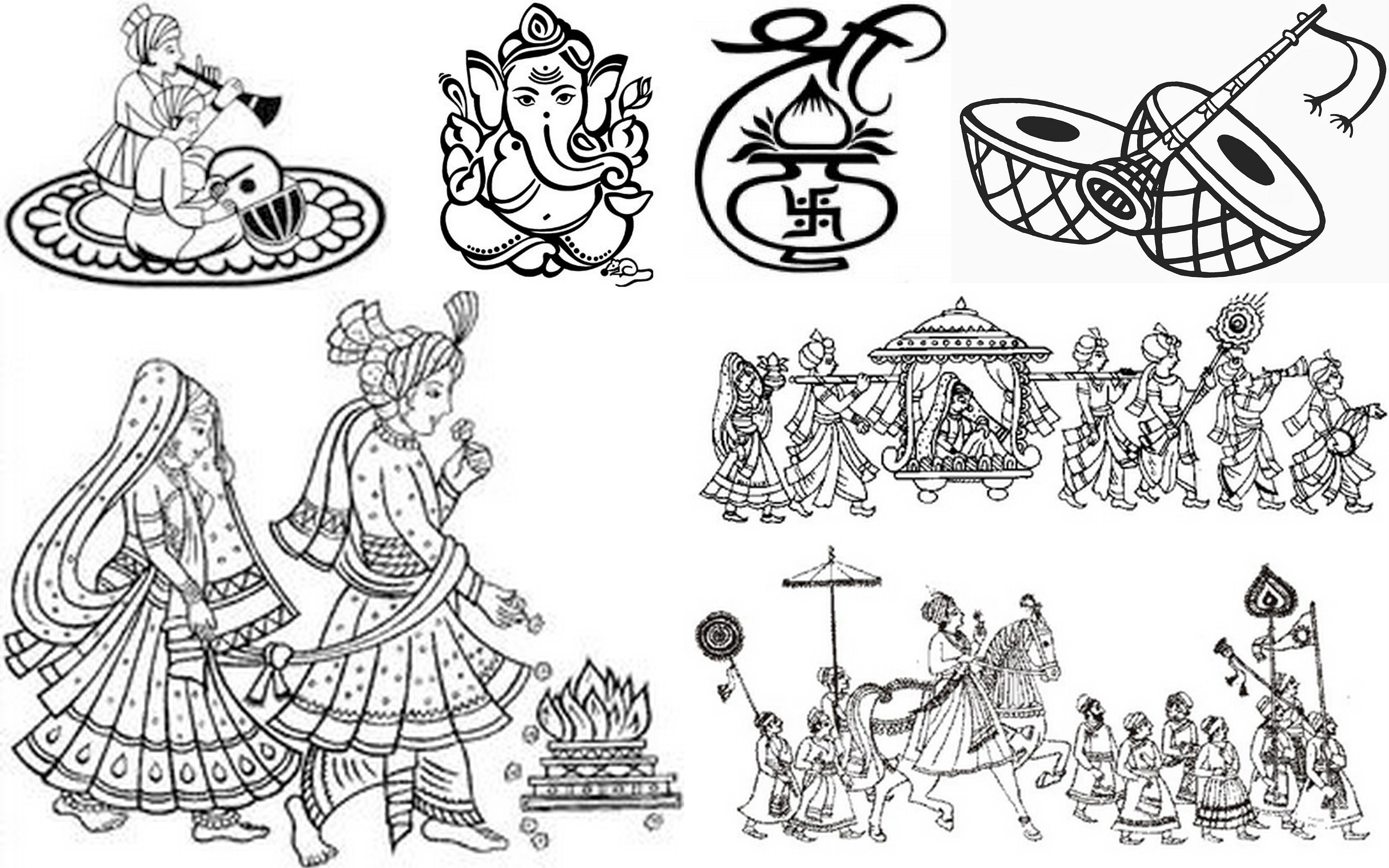 Hindu wedding invitation clipart freeuse download Indianweddingcards #symbols: Wedding Cards for your lovely daughter ... freeuse download