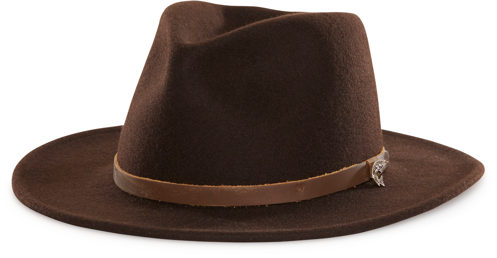 Indiana jones hat clipart clipart library download HD Henry Jones Felt Fedora Hat Brown American Made Left - Fedora ... clipart library download