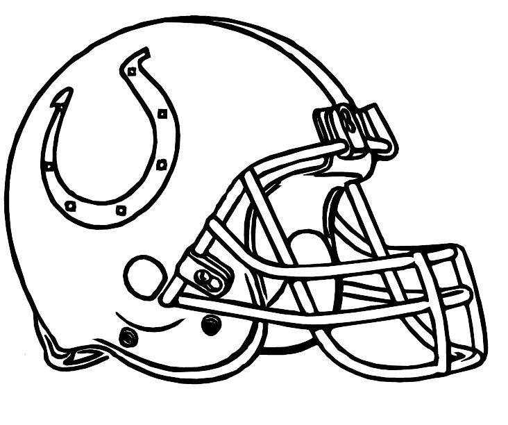 Indianapolis colts helmet clipart jpg black and white library Football Helmet Coloring Pages | Sports Coloring Pages | Football ... jpg black and white library