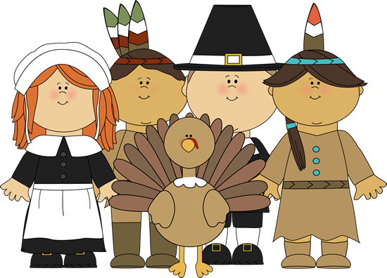 Thanksgiving pilgrim and indian clipart banner freeuse Pilgrims and Indians and a Turkey Clip Art - Pilgrims and Indians ... banner freeuse