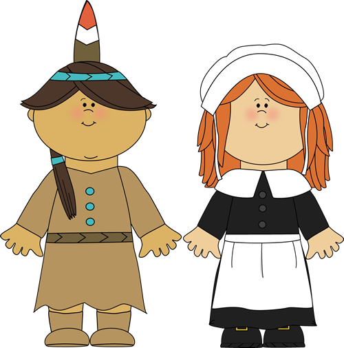 Indians and pilgrims clipart jpg library library Indian Girl & Pilgrim Girl | Thanksgiving Clip Art | Thanksgiving ... jpg library library