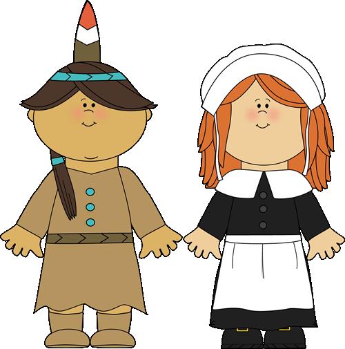 Thanksgiving pilgrim and indian clipart jpg royalty free download Indian Girl & Pilgrim Girl | Thanksgiving Clip Art | Thanksgiving ... jpg royalty free download