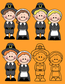 Indians and pilgrims clipart picture royalty free stock Thanksgiving Clip Art 1, Pilgrims and Indians picture royalty free stock