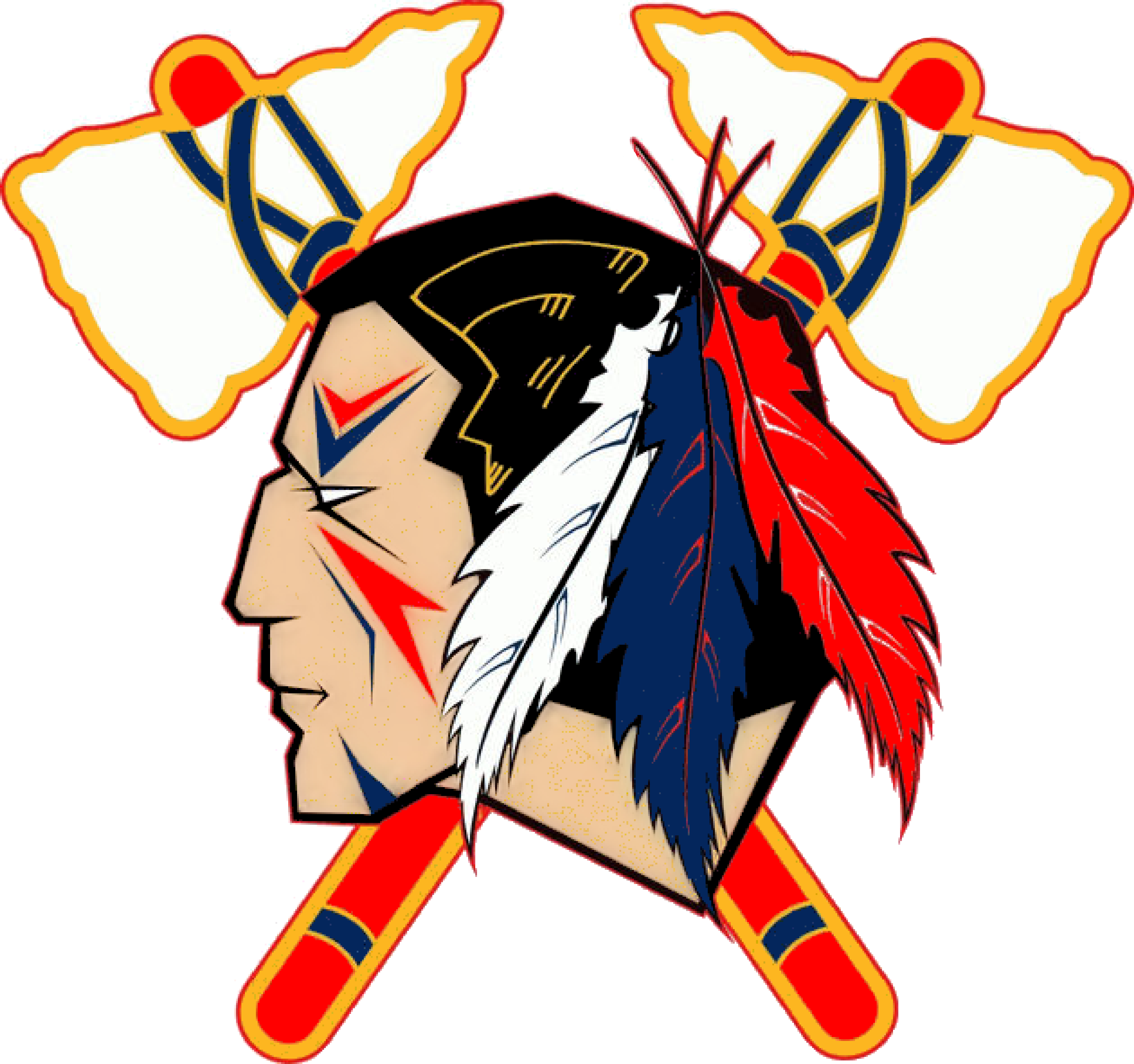 Indians logo clipart image freeuse library Indian Head Logo Clip Art Indians Tomahawk Image - Clipart Kid ... image freeuse library