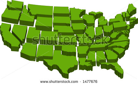 Individual states clipart svg transparent library Individual United States Clipart - Clipart Kid svg transparent library