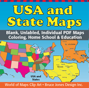 Individual states clipart banner free US State Outlines, No Text, Blank Maps, Royalty Free • Clip art ... banner free