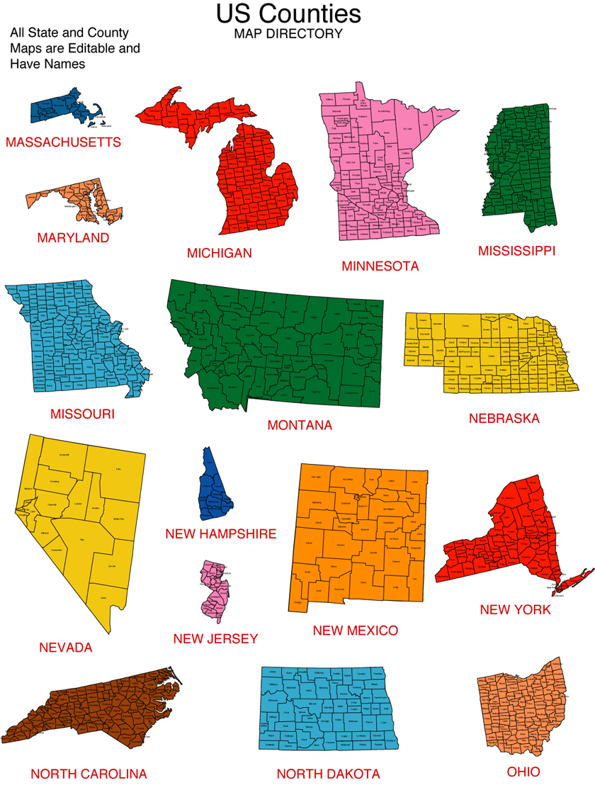 Individual states clipart picture freeuse download Us states clipart - ClipartFest picture freeuse download