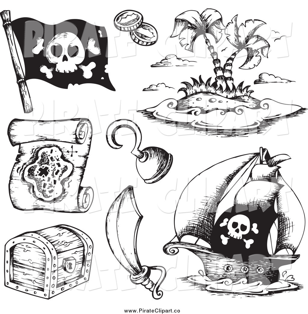 Indonesia black and white clipart clipart free Treasure Map Clipart Black And White Pirate Royalty Free Stock ... clipart free