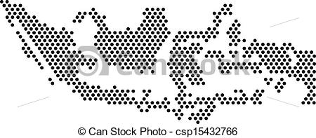 Indonesia black and white clipart picture transparent download Clip Art Vector of Black dots - Map of Indonesia - for design ... picture transparent download