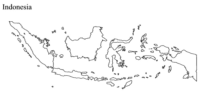 Indonesia black and white clipart png library Indonesia map clip art - ClipartFest png library