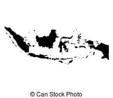 Indonesia black and white clipart clip art royalty free Vector Clip Art of Black Square - Map of indonesia - for design ... clip art royalty free